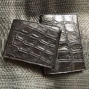 Сумки и аксессуары handmade. Livemaster - original item Crocodile Kit. Wallet and passport cover. Handmade.
