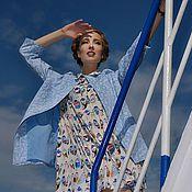 """Одежда ручной работы. Ярмарка Мастеров - ручная работа Пальто голубое """"Круиз"""". Handmade."""