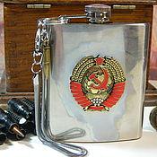 Сувениры и подарки handmade. Livemaster - original item Flask with symbols of the USSR