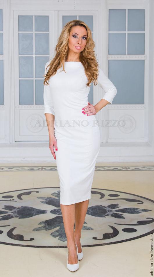 """Платья ручной работы. Ярмарка Мастеров - ручная работа. Купить Платье """"Гармония"""" длина миди. Handmade. Белое платье"""
