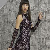 Одежда ручной работы. Ярмарка Мастеров - ручная работа Кружевное платье цвета Марсала. Handmade.