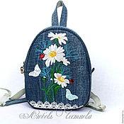 Сумки и аксессуары handmade. Livemaster - original item Copy of Backpack denim female Owl. Handmade.