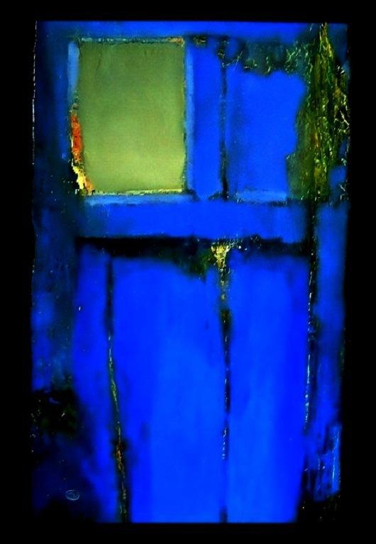 """Абстракция ручной работы. Ярмарка Мастеров - ручная работа. Купить Картина  """"Синяя дверь"""". Handmade. Дверь, картина, абстракция, холст"""