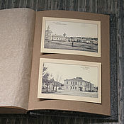 Канцелярские товары handmade. Livemaster - original item Photo album Tweed grey (with craft sheets and parchment). Handmade.
