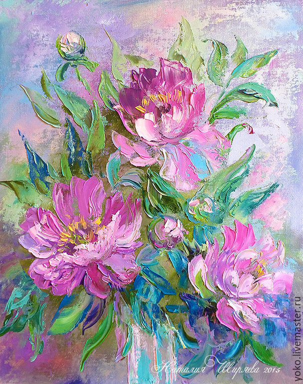 'Waiting for June' - the author's oil painting with peonies, Pictures, Voronezh,  Фото №1