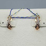 Украшения handmade. Livemaster - original item gold earrings with diamonds. Handmade.