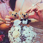 Куклы и игрушки ручной работы. Ярмарка Мастеров - ручная работа Свадебные мишки амигуруми. Handmade.