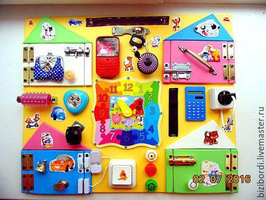 Развивающие игрушки ручной работы. Ярмарка Мастеров - ручная работа. Купить Бизиборд от Георгия 14. Handmade. Комбинированный, бизиборд, Монтессори