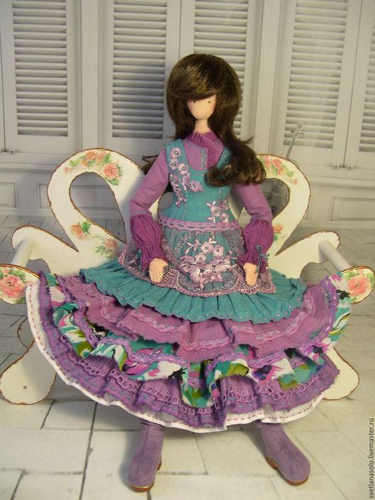 Коллекционные куклы ручной работы. Ярмарка Мастеров - ручная работа. Купить Кукла в стиле БОХО Катюша. Handmade. Тёмно-бирюзовый