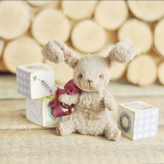 Мишки Тедди ручной работы. Ярмарка Мастеров - ручная работа. Купить Зайка Тедди Сеня. Handmade. Мишка тедди, подарок
