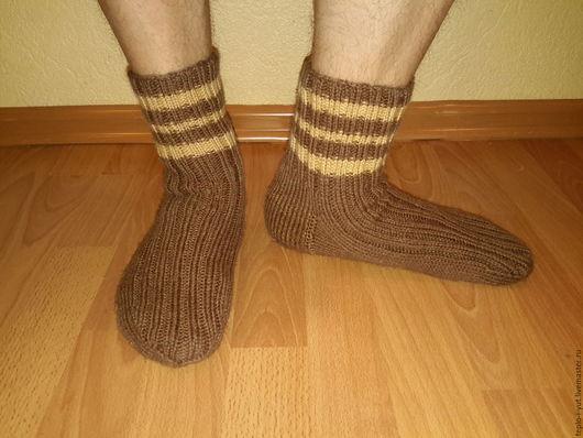 Носки, Чулки ручной работы. Ярмарка Мастеров - ручная работа. Купить Носки вязаные. Handmade. Коричневый, носки ручной работы