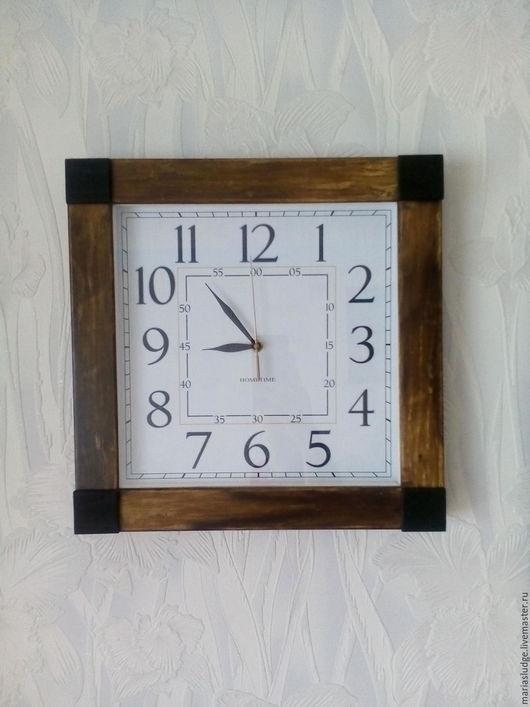 Часы для дома ручной работы. Ярмарка Мастеров - ручная работа. Купить Часы настенные деревянные. Handmade. Коричневый, часы настенные