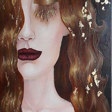 """Картины и панно ручной работы. Ярмарка Мастеров - ручная работа Картина по мотивам """"Золотые слёзы"""" Г.Климта. Handmade."""