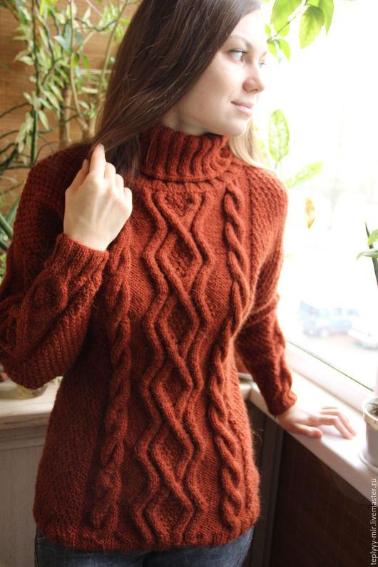 """Кофты и свитера ручной работы. Ярмарка Мастеров - ручная работа. Купить Свитер """"Рыжик"""". Handmade. Рыжий, свитер на зиму"""