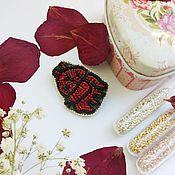 Украшения handmade. Livemaster - original item Brooch in the shape of anatomical hearts/Heart brooch beaded jewelry. Handmade.