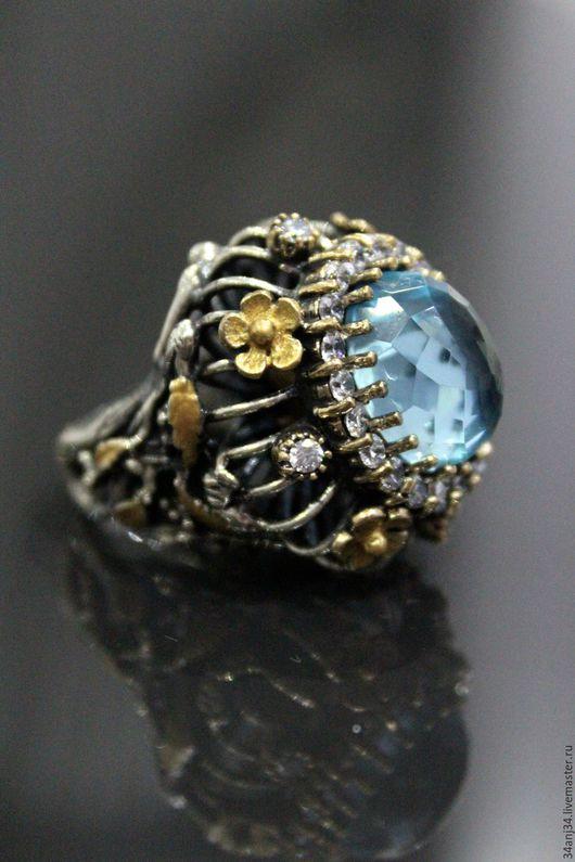 """Кольца ручной работы. Ярмарка Мастеров - ручная работа. Купить Кольцо """" Замок Альгамбра 2 """". Handmade. Голубой"""
