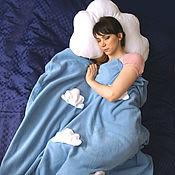 Для дома и интерьера handmade. Livemaster - original item Gift to a friend-a soft cloud pillow and a blue blanket with clouds. Handmade.