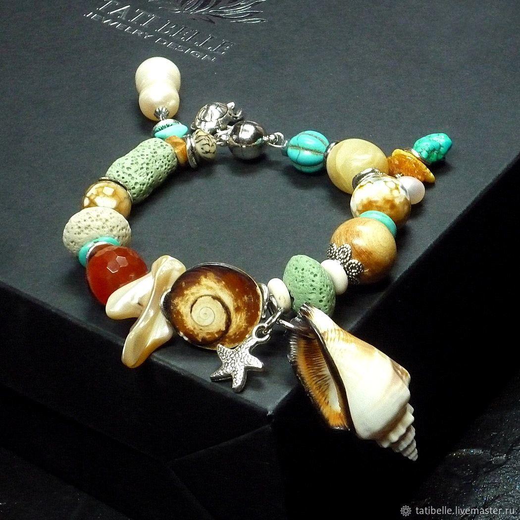 Bracelet made of natural stones ' Islander', Bead bracelet, Moscow,  Фото №1