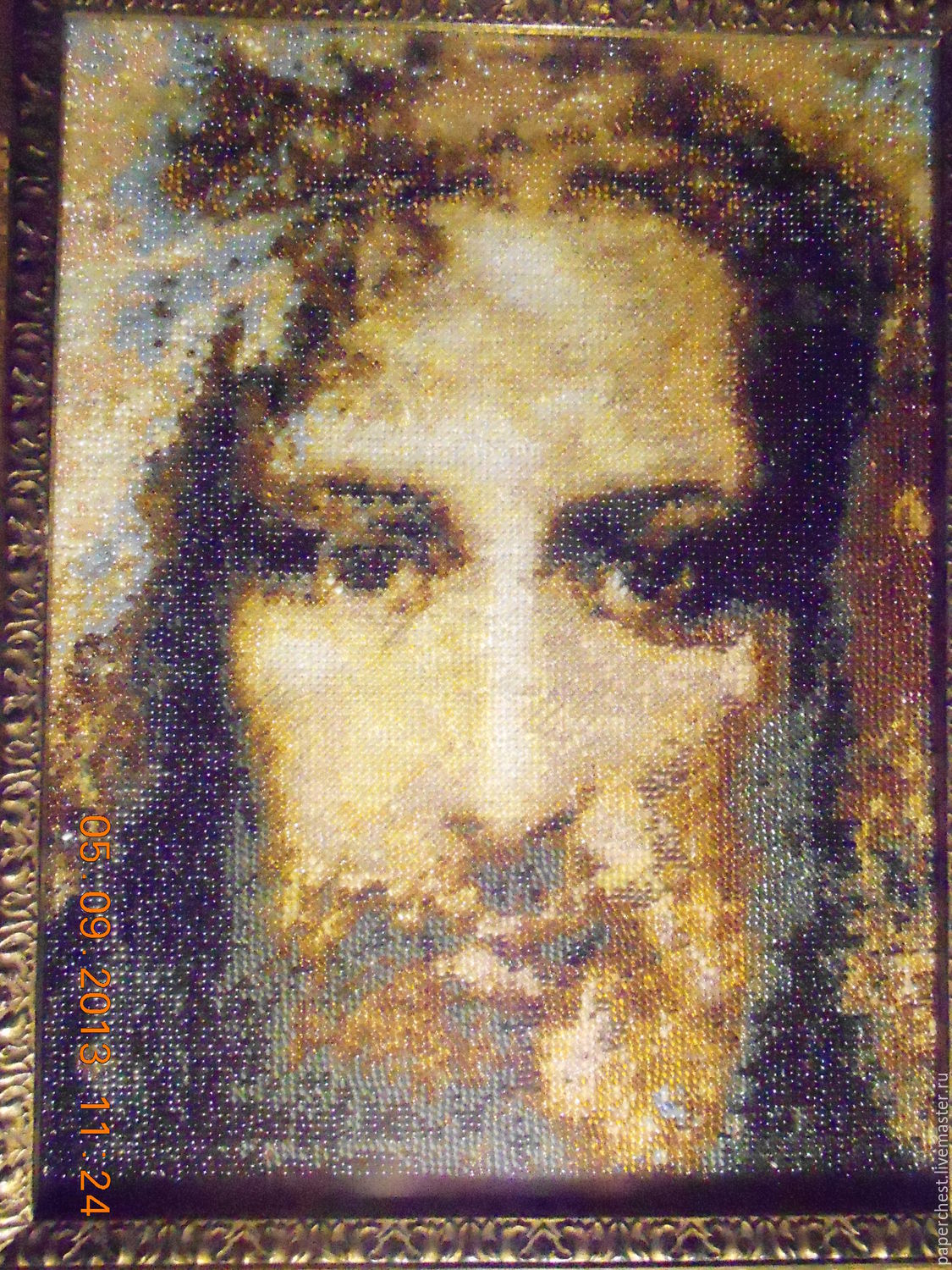 hand embroidery beaded shroud of jesus christ shop online on