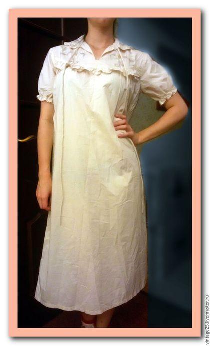Одежда. Ночная рубашка батист с вышивкой НОВАЯ. Чердак старого дома (vintage25). Ярмарка Мастеров. Ночная рубашка батист