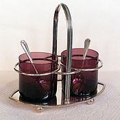Винтаж handmade. Livemaster - original item Antique set for jam, jam Harrison England silver. Handmade.