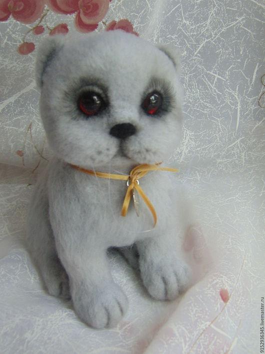 Игрушки животные, ручной работы. Ярмарка Мастеров - ручная работа. Купить Британский котик. Handmade. Серый, британец, подарок