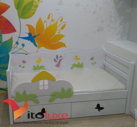 """Детская ручной работы. Ярмарка Мастеров - ручная работа. Купить Детская кровать """"Фея"""". Handmade. Белый, детская комната, дизайн"""
