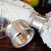 Кольца для салфеток антикварные 4 шт. Серебрение Англия