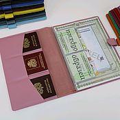 Папки ручной работы. Ярмарка Мастеров - ручная работа Органайзер для документов А4 розовый. Handmade.