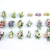 Комплекты украшений ручной работы. Ярмарка Мастеров - ручная работа Комплекты украшений фарфоровый. Handmade.