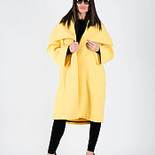 handmade. Livemaster - original item Spring cashmere coat, Yellow coat-CT0417CA. Handmade.