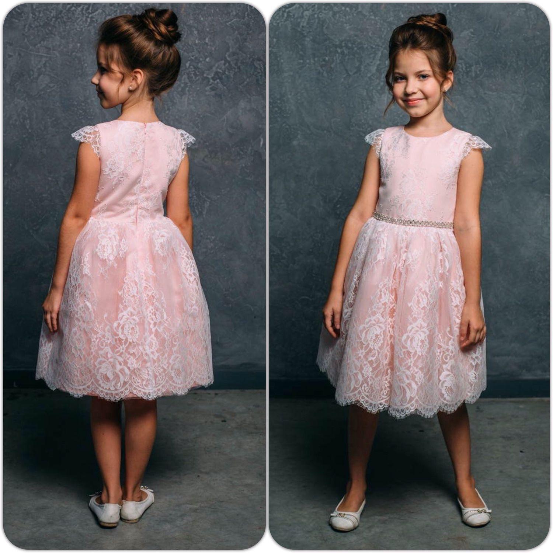 Ажурное платье для девочки: детское, из гипюра, с кружевом 37
