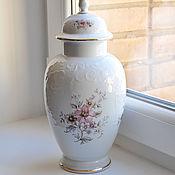32 см. Большая фарфоровая ваза. Бавария.