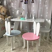Chairs handmade. Livemaster - original item Chair baby Bunny with ears available and under the order children`s furniture. Handmade.