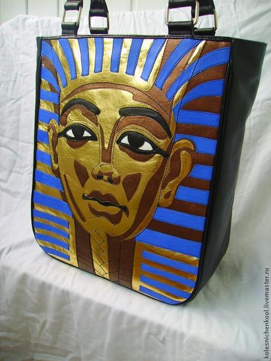 Женские сумки ручной работы. Ярмарка Мастеров - ручная работа. Купить Фараон. Handmade. Кожаная женская сумка, сумка с декором