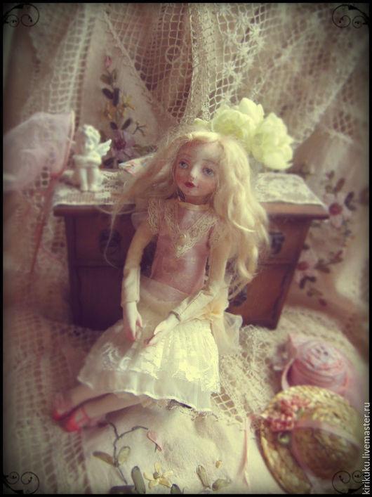 Коллекционные куклы ручной работы. Ярмарка Мастеров - ручная работа. Купить Каникулы Мари.... Handmade. Бледно-розовый, интерьерная кукла
