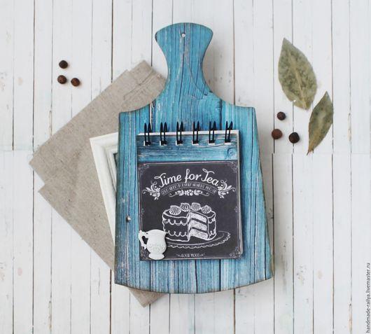 Кухня ручной работы. Ярмарка Мастеров - ручная работа. Купить Доска для рецептов / записей. Handmade. Синий, кулинарный блокнот