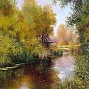 Картины и панно handmade. Livemaster - original item Painting landscape oil on canvas Stara Banica. Handmade.