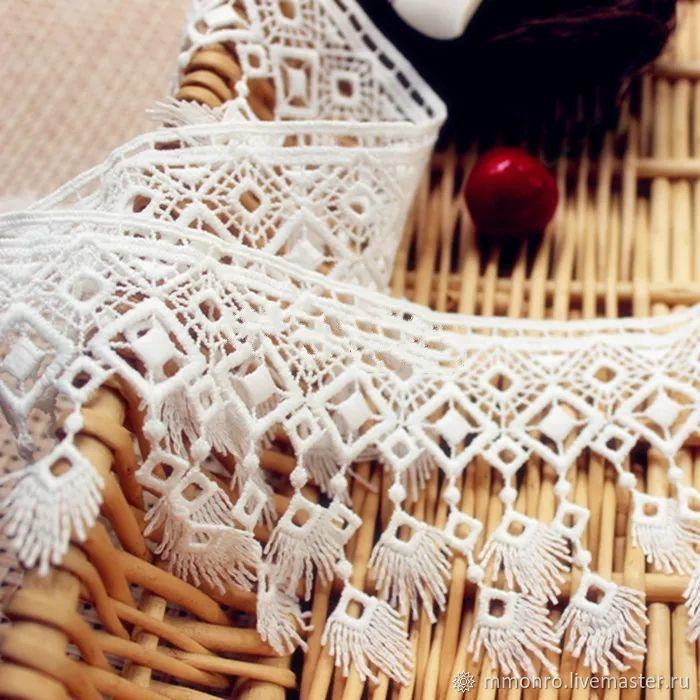 Lace braid with fringe. In stock!, braid, Podolsk,  Фото №1