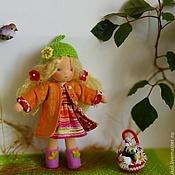 Куклы и игрушки ручной работы. Ярмарка Мастеров - ручная работа Веснушка 18 см в съемной одежке. Handmade.