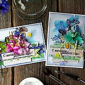 Подарки к праздникам ручной работы. Ярмарка Мастеров - ручная работа Открытки ручной работы на 1 сентября. Handmade.