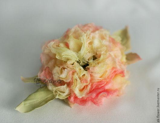 """Цветы ручной работы. Ярмарка Мастеров - ручная работа. Купить Цветы из ткани. Цветы из шелка. Роза """"Жизель"""". Handmade. Лимонный"""