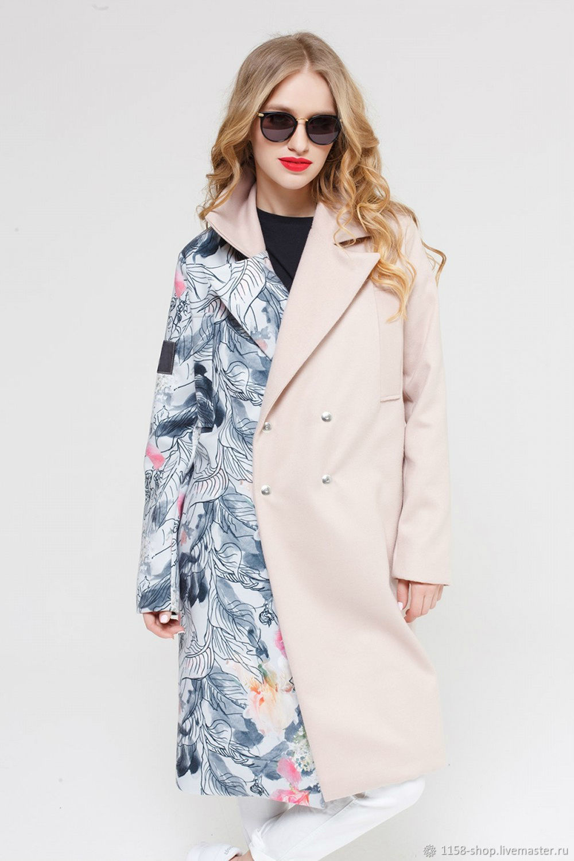 3de5ef681 Верхняя одежда ручной работы. Ярмарка Мастеров - ручная работа. Купить  Пальто с цветочным принтом ...