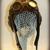 """Аксессуары ручной работы. Ярмарка Мастеров - ручная работа Шлем """"Авиатор"""". Handmade."""
