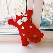 Мягкие игрушки ручной работы. Ярмарка Мастеров - ручная работа Кошечка для маленькой леди. Handmade.