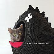 """handmade. Livemaster - original item Cat bed """"Black whale"""". Handmade."""