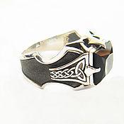 Украшения handmade. Livemaster - original item ring: Silver ring Dragon Claw with garnet. Handmade.