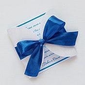 Свадебный салон ручной работы. Ярмарка Мастеров - ручная работа Приглашение на свадьбу с бантом. Handmade.