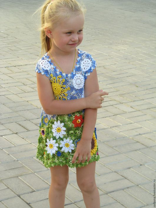 Одежда для девочек, ручной работы. Ярмарка Мастеров - ручная работа. Купить Ах ! Лето !. Handmade. Комбинированный, подарок