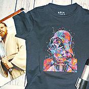 Работы для детей, ручной работы. Ярмарка Мастеров - ручная работа Детская футболка с ручной вышивкой Дарт Вейдер. Handmade.